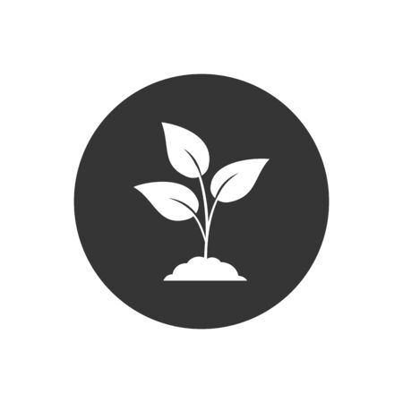 Leaf nature icon on gray. Vector