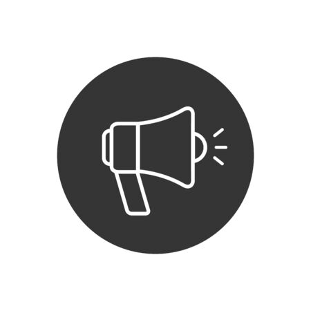 Megaphone line icon. Icon megaphone Single Icon Graphic Design. Vector illustration