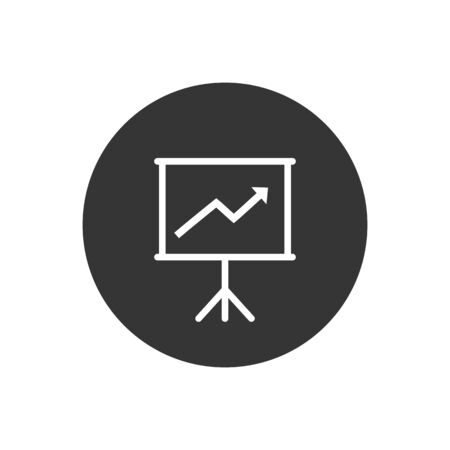Diagram chart icon in trendy flat style. Vector Illustration