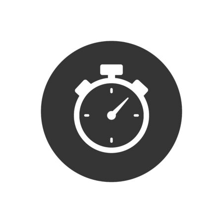 Chronometer timer isolated icon. Vector