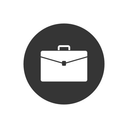 Briefcase vector icon on gray Иллюстрация