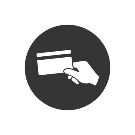 Hand holding a credit card icon. Vector Ilustrace