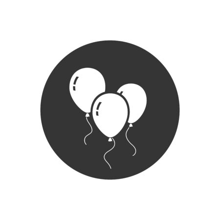 Balloons icon isolated on gray background. Vector Illustration