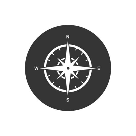 Compass icon Template vector icon illustration design Ilustracja