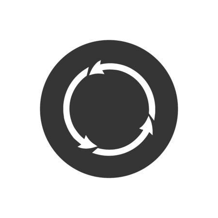 Rotation icon vector. Rotation or reload symbol icon Ilustracja