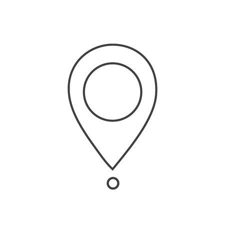 Maps pin. Location map line icon. Location pin. Pin icon vector.