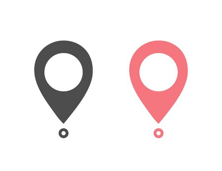 Maps pin. Location map icon set. Location pin. Pin icon vector.