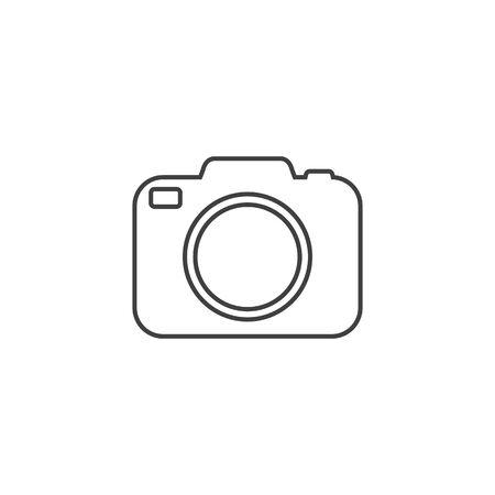 Photo camera vector line icon in flat Ilustracja