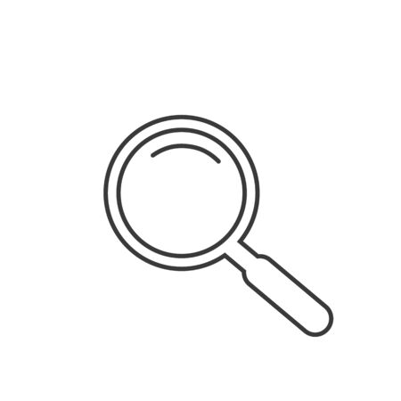 Search Magnifying glass line icon symbol. Vector illustration