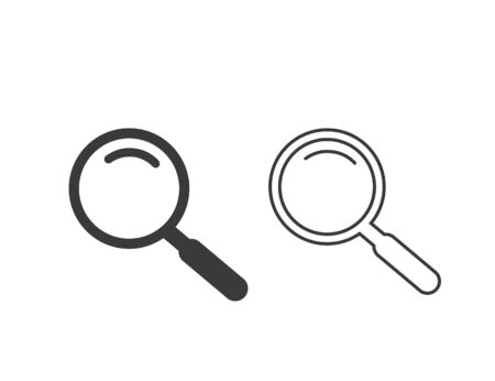 Search Magnifying glass icon set symbol. Vector illustration
