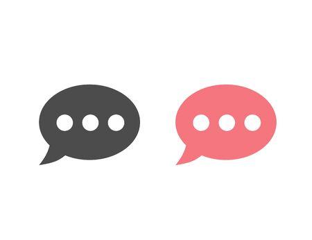 Speech bubble icon set. Vector illustration