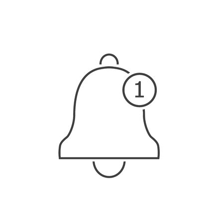 Notification line icon. Vector bell icon