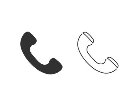 Phone line icon set flat style. vector illustration Ilustracja