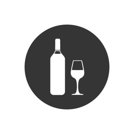 Wine White icon Vector Illustration on the gray background