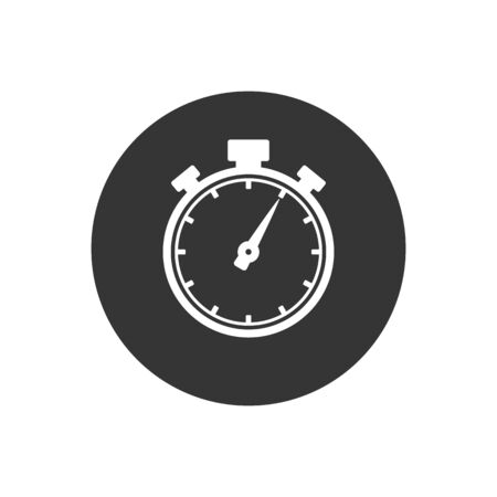 Stopwatch icon in trendy flat style. Vector Illustration