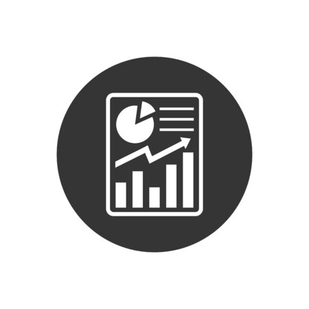 Report icon in flat style. Accounting symbol for your web site design, logo, app, UI Vector Ilustrace