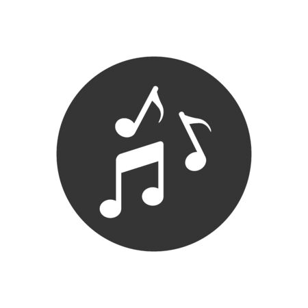Music note illustration icons. Sound and melody symbols