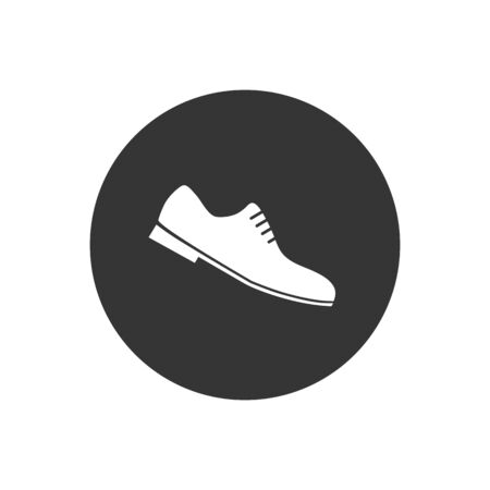 Formal Shoes Icon. Man Footwear Illustration As A Simple, Trendy Sign Symbol for Design and Websites, Presentation or Application Çizim