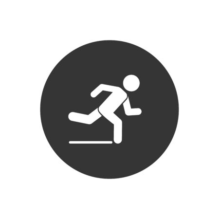 Runner icon. Logo element illustration. Runner symbol design. colored collection. Runner concept. Can be used in web and mobile