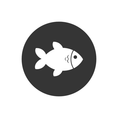 Fish Icon. Sea Food or Farm Element Illustration As A Simple Vector Sign Trendy Symbol for Design, Websites, Presentation or Application