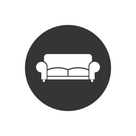 Sofa Icon. Furniture or Interior Element Illustration in Glyph Style As A Simple Vector Sign Trendy Symbol for Design and Websites, Presentation or Mobile Application