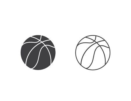 Basketball icon set vector illustration Ilustracja