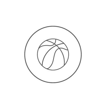 Basketball line icon vector illustration