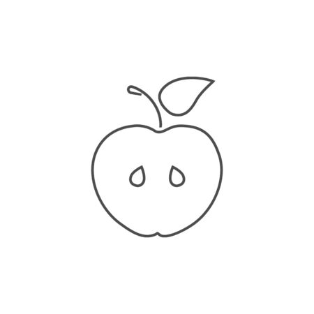 Apple fruit line icon set design template vector isolated illustration Ilustracja