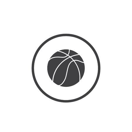 Basketball icon vector illustration in flat Ilustracja