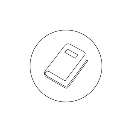 Book, Stationery Education Line Icon Vector Template Ilustracja