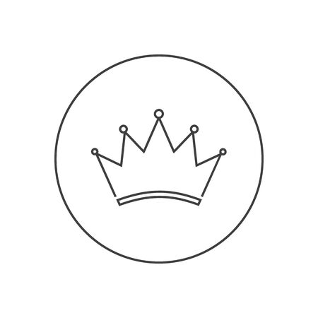 Crown Logo Template. Line icon. Vector illustration