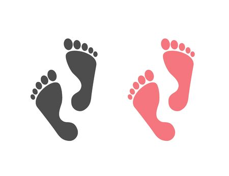 Foot step icon set. Vector illustration