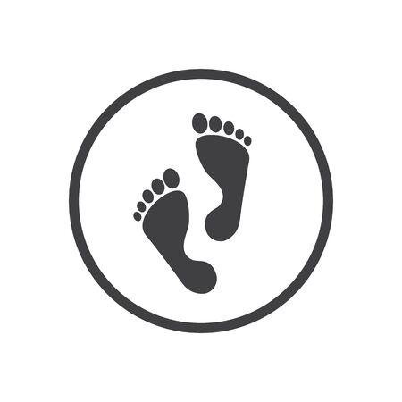Foot step icon. Vector illustration 版權商用圖片 - 137659422