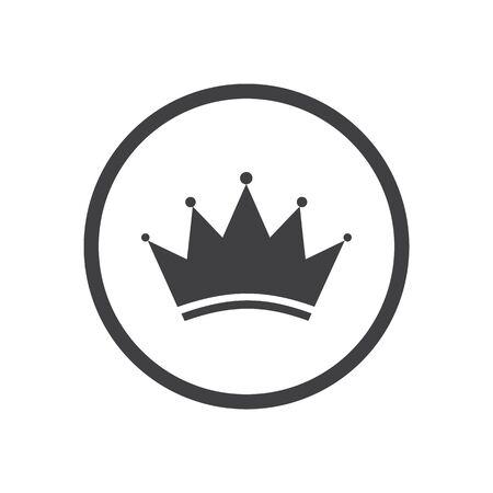 Crown Logo Template Icon. Vector illustration Ilustracja