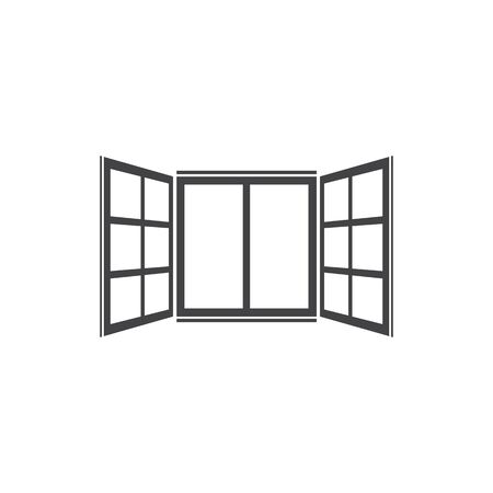 Open window icon in flat style isolated background. For your design, logo. Vector illustration