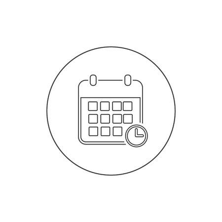 Calendar line icon vector illustration. Calendar symbol