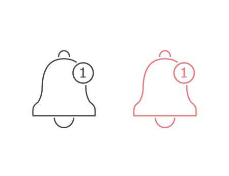 Notification line icon set. Vector bell icon Ilustracja