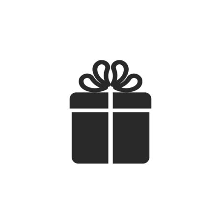 Gift box icon in flat style. Vector illustration