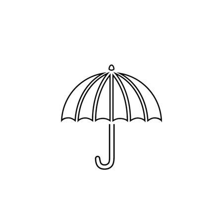 Umbrella line icon vector illustration Ilustracja
