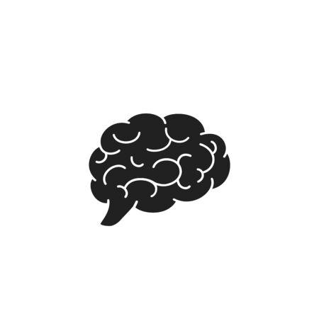Brain icon flat. Vector illustration