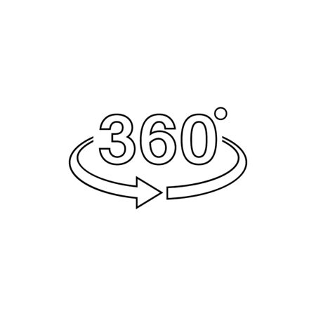 360 view line icon graphic design template vector
