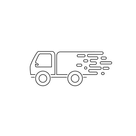 Fast truck. Fast delivery line icon. Vector Stockfoto - 142934840
