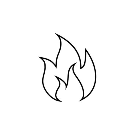 Flame line icon vector illustration