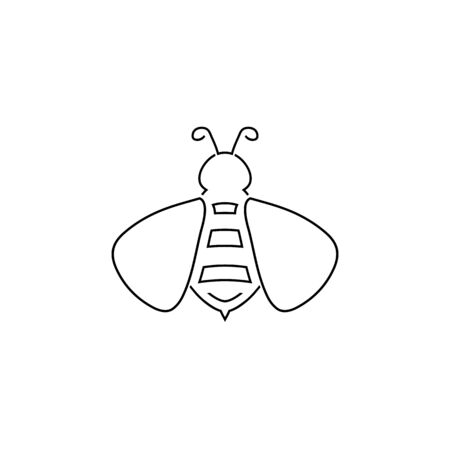 Bee line icon . vector illustration in flat Banque d'images - 140989039