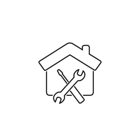 Maintenance house line icon - From property, commercial house real estate icons, mortgage icons