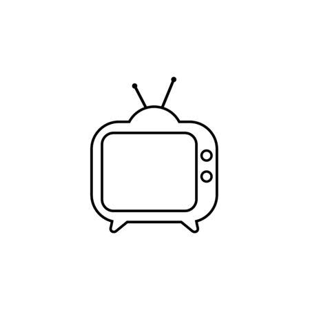 TV line icon. Tv Icon in trendy flat style isolated on white background. Television symbol for your web site design, logo, app, UI. Vector
