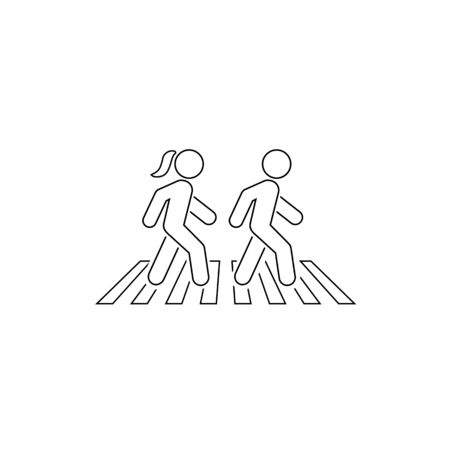 Walk line icon symbol logo template. Vector in modern flat style