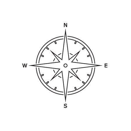 Comapass line icon Template vector icon illustration design in modern flat style Vector Illustratie