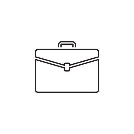 Briefcase vector line icon on white