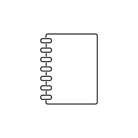 Closed notebook line icon image. Vector
